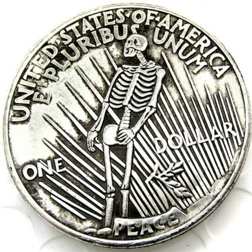 Primary image for Hobo Nickel Morgan Dollar Coin For Collectors 1922 Sinister Dead From Hell Devil