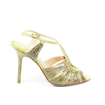 Jimmy Choo Snakeskin Strappy Sandals SZ 36.5 - $205.00