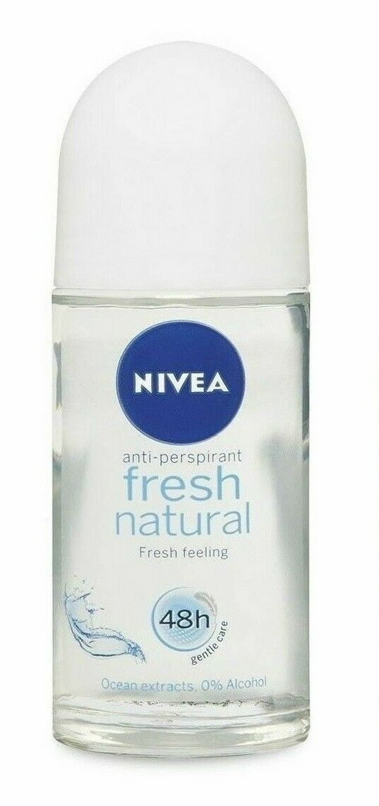Nivea Deodorant Roll On Fresh Natural 50ml deodorante