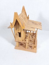 """Small Bamboo House 5.5"""" Tall Made in Thailand - $7.81"""
