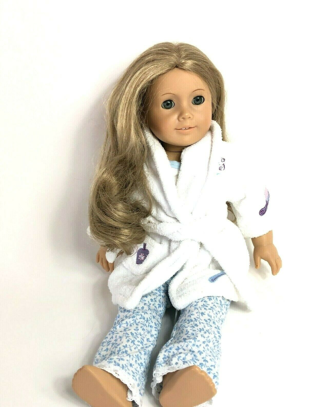 "American Girl Pleasant Company Elizabeth Doll 18"" Blonde Blue Eyes Retired - $292.05"
