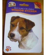 JACK RUSSEL ROUGH COATED DOG DOUBLE SIDED WINDOW STICKER - $3.88