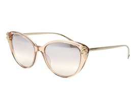 Versace VE4351B 52158Z Transparent Brown Sunglasses Silver Mirror Gradie... - $193.03
