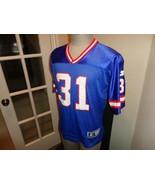 Vtg 90's Blue New York Giants #31 Jason Sehorn Screen NFL Jersey Youth L... - $31.67