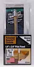 """Vermont American 23243 1/4"""" x 3/4"""" Carbide Pilot Panel Router Bit Heavy ... - $8.17"""