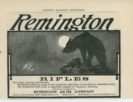 1903 Remington Rifles Ad Bear Big Game Hunting Shooting Guns Vintage - $9.99