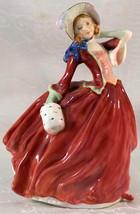 Vintage Royal Doulton Autumn Breezes Figurine Red HN1934 Figurine Initia... - $59.99