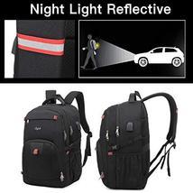 17 Inch Laptop Backpack for Travel School Work w/USB Charging Port Men Women image 5