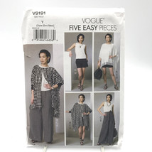 Vogue 9191 Womens Poncho Top Shorts Pants Size XSM Med Uncut Sewing Pattern - $14.69