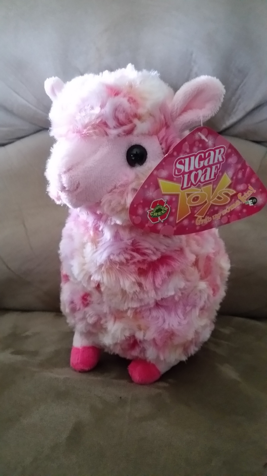 Llama Pink and Red Brand New Plush NWT Stuffed Animal w/ Tags 11""