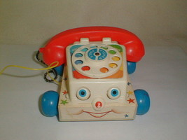 Fisher Price Retro Classic Chatter Phone Pull Toy Telephone Preschoolers... - $25.00