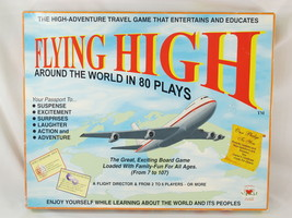 FLYING HIGH AROUND THE WORLD IN 80 PLAYS 1995 Board Game Viv Near Mint ### - $24.55