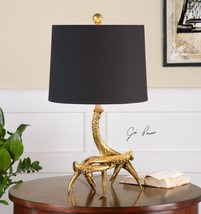 "MODERN URBAN LODGE 22"" AGED GOLD DEER ANTLER ROPE ACCENT TABLE LAMP UTTE... - $154.00"