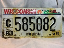 Wisconsin Truck License Plate 585082 - $2.97