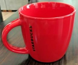 "2017 Starbucks Coffee Mug Cup Red 14 oz 3.5"" Ceramic Microwave Dishwashe... - $14.50"