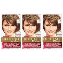 L'Oreal Paris Excellence Creme, 6 Light Brown, 3 Count, Packaging May Vary - $27.17