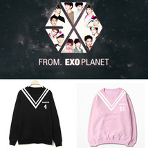 KPOP EXO Sweater Chanyeol Hoodie Baekhyun Unisex Sweatershirt Pullover C... - $12.69