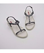 NIB Prada Sport Silver Nappa Silk Leather Knotted Sandals New 6.5 36.5  - $268.00