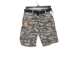 Lee Dungarees Wyoming Camo Cargo Shorts 16 R Youth With Belt - $16.00