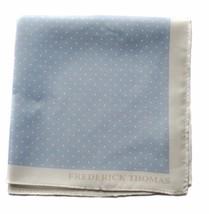Frederick Thomas CHIARO BLU & BIANCO A PALLINI Fazzoletto quadrato da taschino