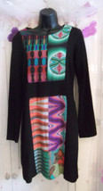 Stunningly elegant Desigual-Dress-Size-38. lined, long sleeves, knee len... - $50.49