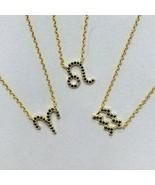 Dainty Jet Black CZ Zodiac Sign Necklaces - $38.36 CAD