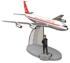 Tintin & Qantas Airlines Boeing 707 from Flight 714