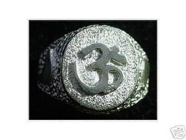LOOK New Sterling Silver .925 Ring Hindu OM symbol AUM Yoga Detailed Jewelry Hin - $16.96