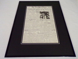 New York Times July 14 1960 Framed 16x20 Front Page Poster JFK Nominated - $79.19