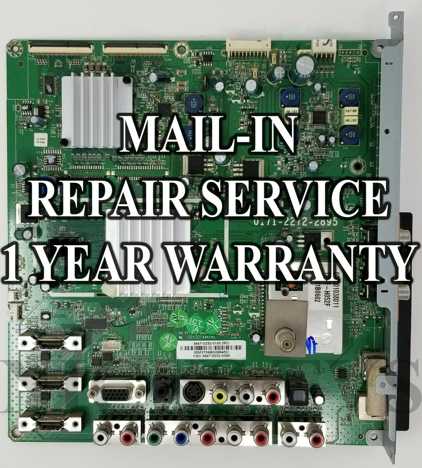 Primary image for Mail-in Repair Service Vizio VL420M Main Board 3642-0682-0150 0171-2272-2895