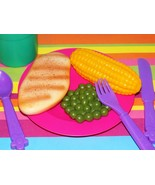 Learning Resources Chicken dinner lot childrens play food corn cob peas ... - $15.83