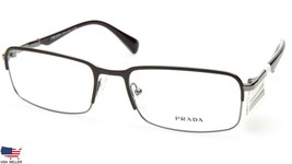 NEW W/ TAG PRADA VPR 61Q LAH-1O1 BROWN GUNMETAL EYEGLASSES FRAME 56-18-1... - $128.69