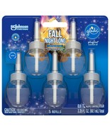 Glade PlugIns Refill 5 CT, Fall Night Long 3.35 FL. OZ. Scented Oil NEW - $15.19