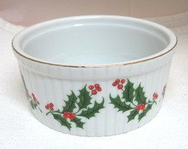 Vintage Holiday Holly Collection RB Sm Casserole Original Japan Tag MINT... - $32.18