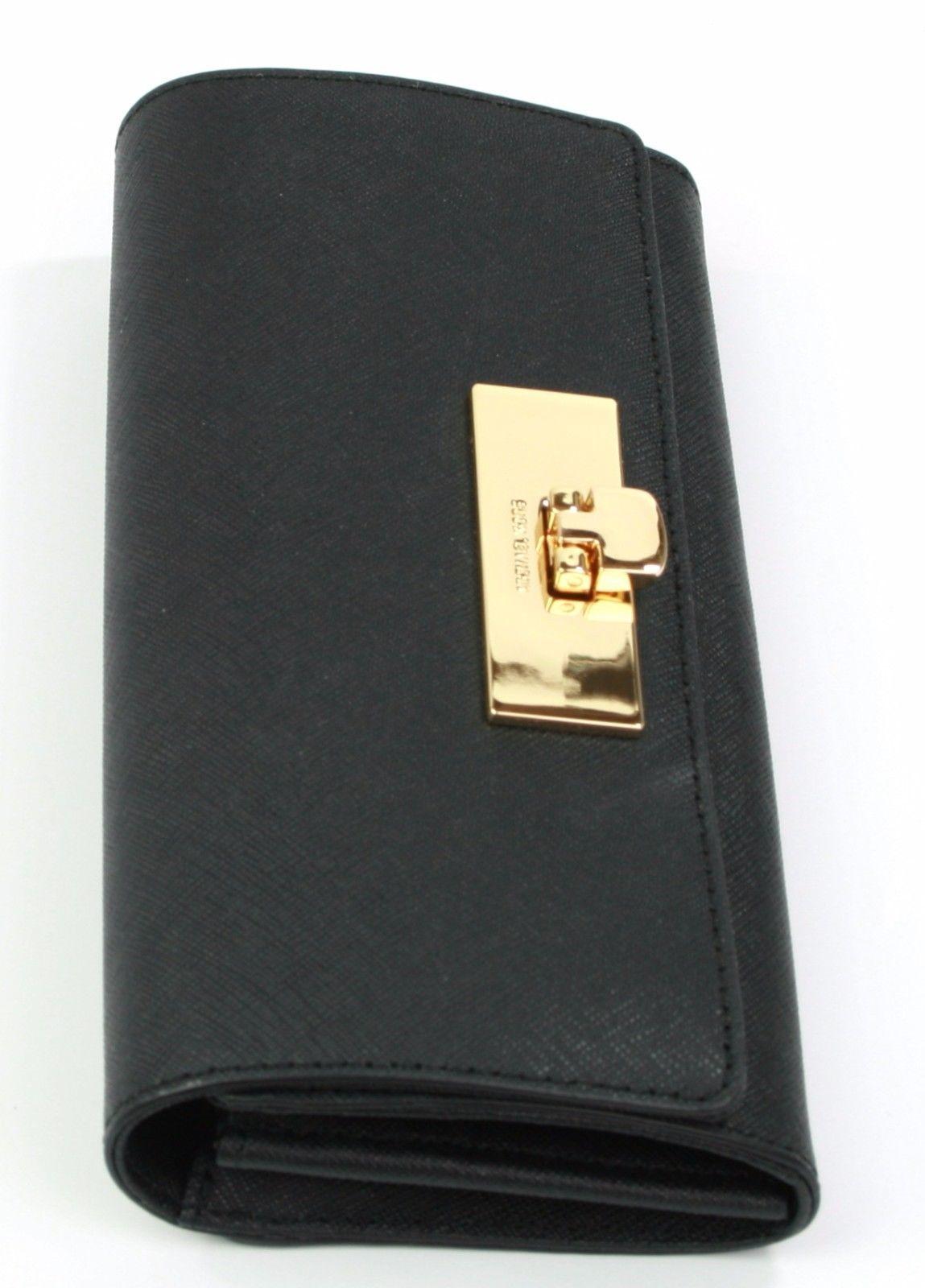 cad859e5f0340 ... Michael Kors Callie Purse Wallet Black Saffiano Leather Large Jet Set  ...