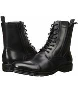 Mens Kenneth Cole Hugh Cap Toe Boot - Black Leather [KMF8052LE 001] - $134.99