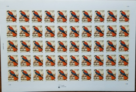 American Kestrel 1999 (USPS) STAMP SHEET 1 Cent 50 STAMPS - $2.95