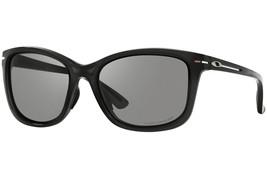 Oakley Drop In POLARIZED Sunglasses OO9232-01 Polished Black Frame W/ Gr... - $59.39