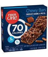 Fiber One 70 Calorie Chocolate Caramel and Pretzel Bars, Snack, 5ct. - $11.99
