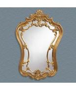"""Bassett Antique Gold Leaf Arched Wall Mirror  24 x 35""""  M2968EC - $148.27"""