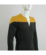 Star Trek Deep Space Nine Adult Male Gold Uniform Jumpsuit Cosplay Costume - £35.07 GBP