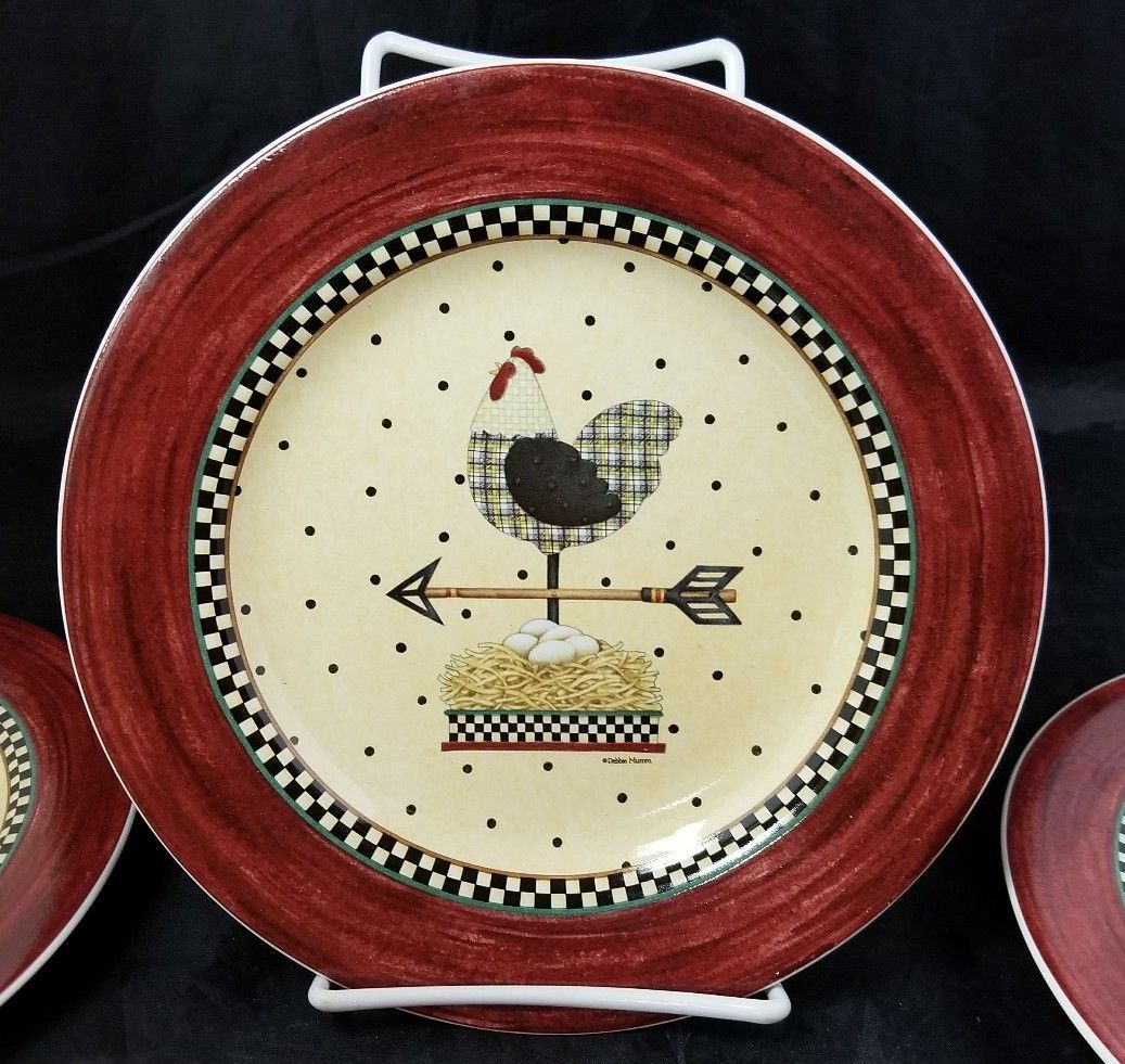 Sakura Weathervane Salad Lunch Plates Set of 4 Debbie Mumm 8.25  Cow Cat Chicken  sc 1 st  Bonanza & Sakura Weathervane Salad Lunch Plates Set of and 33 similar items