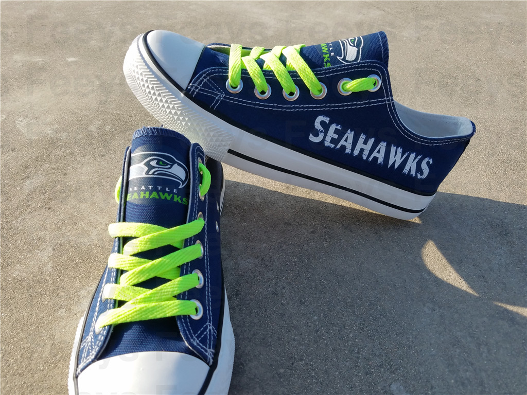 Seattle seahawks shoes seahawks sneakers super bowl fashion birthday gift for S