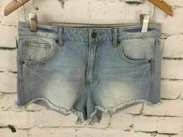 Forever 21 Womens Sz 28 Jean Shorts Light Wash Denim Mini Micro Summer C... - $9.89