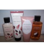 4 Pc Bath & Body Works Almond & Vanilla Set- Scrub, Cream, Lotion & Gel - $38.95