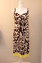 Liz Lange Maternity Brown Floral Yellow Sleeveless Sundress Dress Size M... - €17,61 EUR