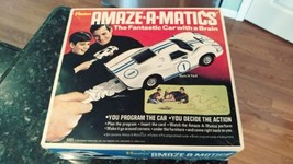 Vtg 1969 Battery Op Hasbro Amaze-A-Matics Mark IV Ford Car Set #5865 w B... - $79.95