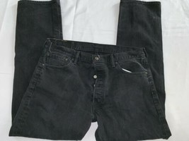 Levi 501 black - Button fly jeans 36x32 Blem - $19.00