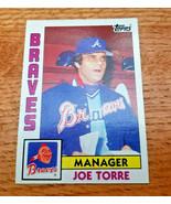 Joe Torre Base Ball Card Braves 1984 Manager Topps 502 Major League Base... - $4.74