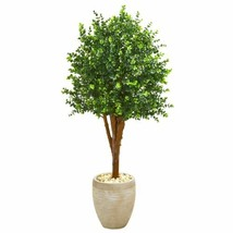Multicolor 4.5' Eucalyptus Artificial Tree in Sandstone Planter UV Resistant (In - $325.30
